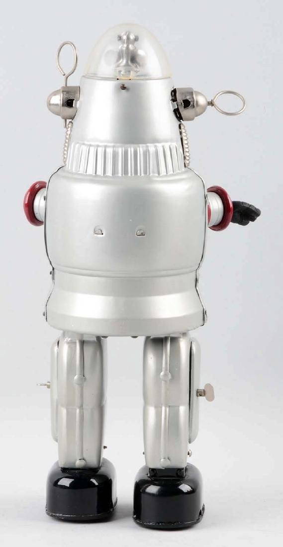 Japanese Tin Litho Battery Operated Silver Robby Robot. - 2