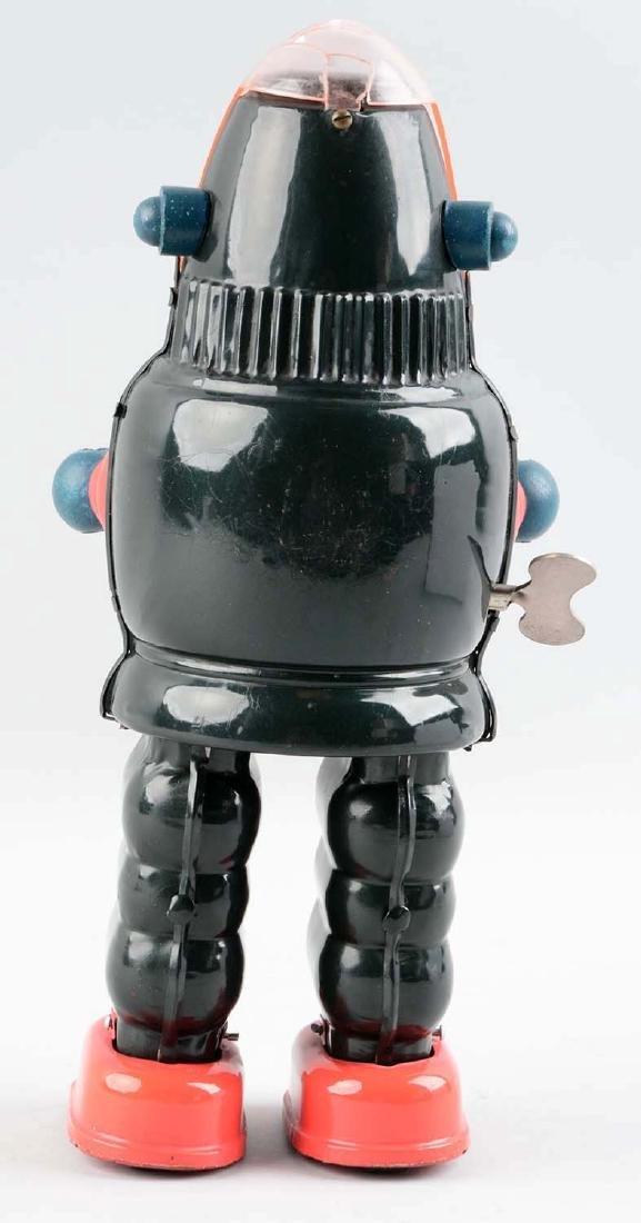 Japanese Tin Litho Wind Up Moon Robot (aka Ribbon Head - 2