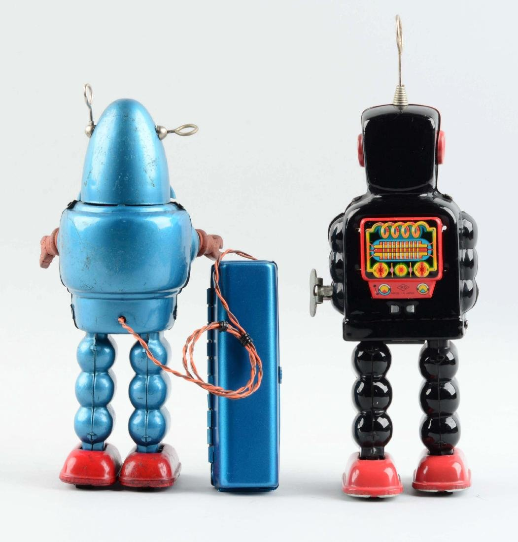 Lot Of 2: Japanese Tin Litho Remote Control Robots. - 2