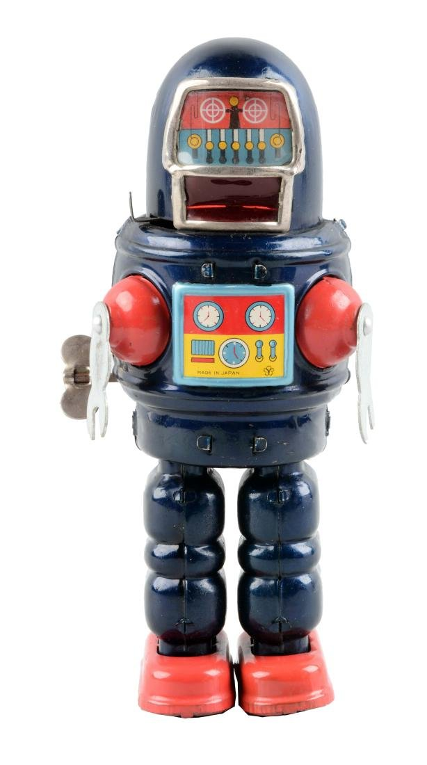 Japanese Tin Litho Wind Up Roby Robot.