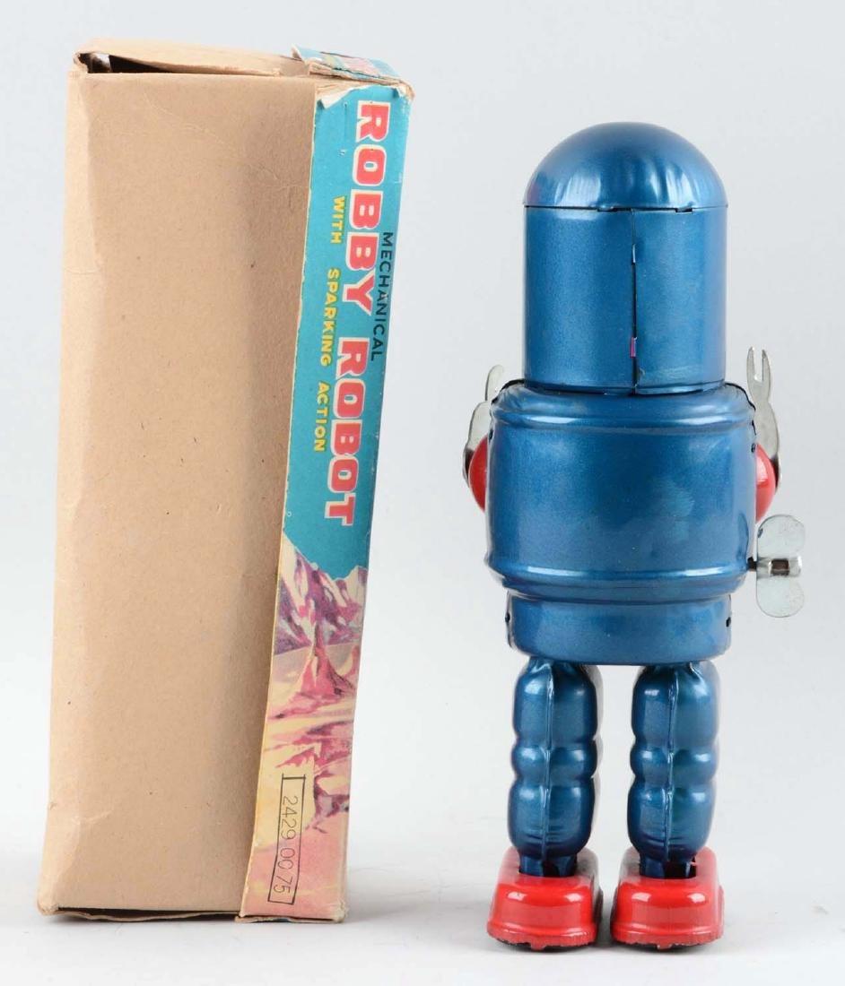 Japanese Tin Litho Wind Up Robby Robot. - 2
