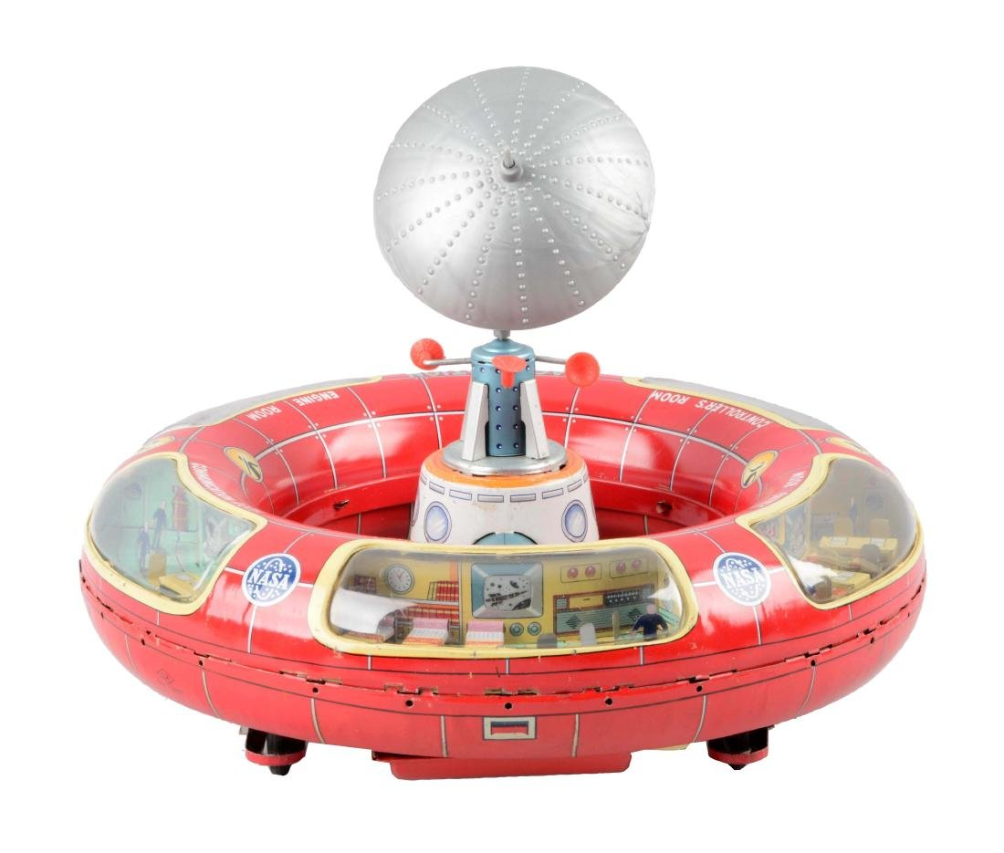 Japanese Tin Litho Battery-Operated Space Station