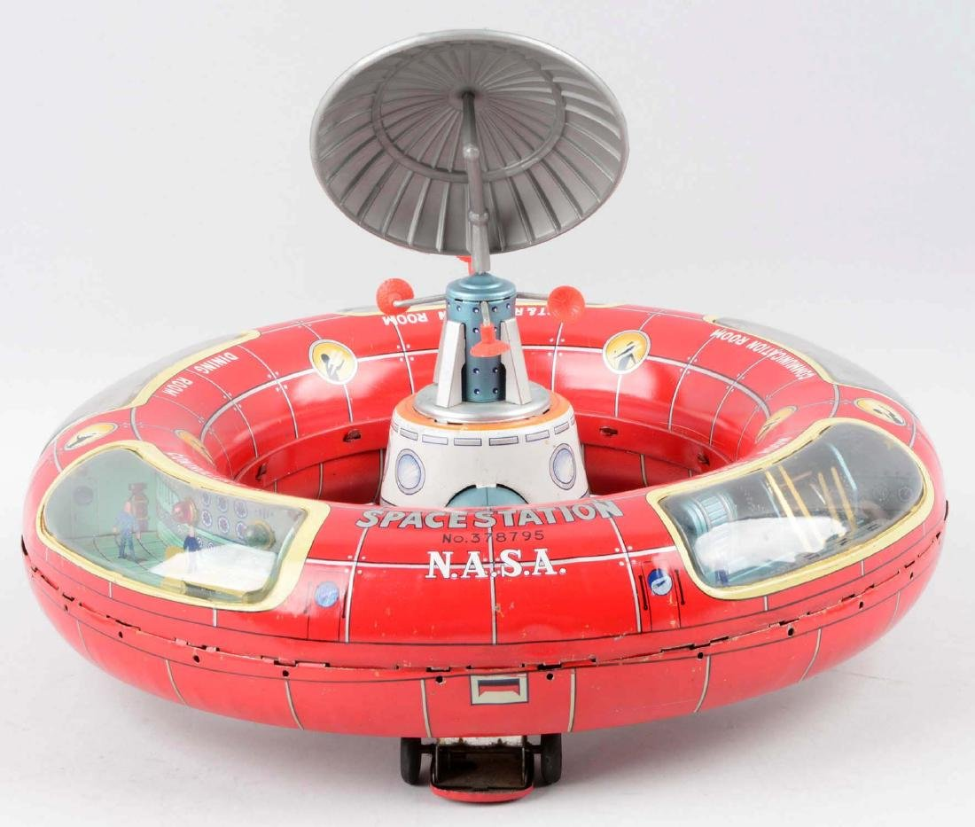 Japanese Tin Litho Battery-Operated Space Station - 2
