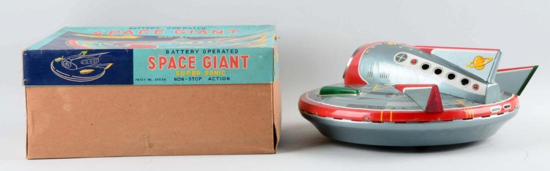 Japanese Tin Litho Battery Operated Space Giant. - 2