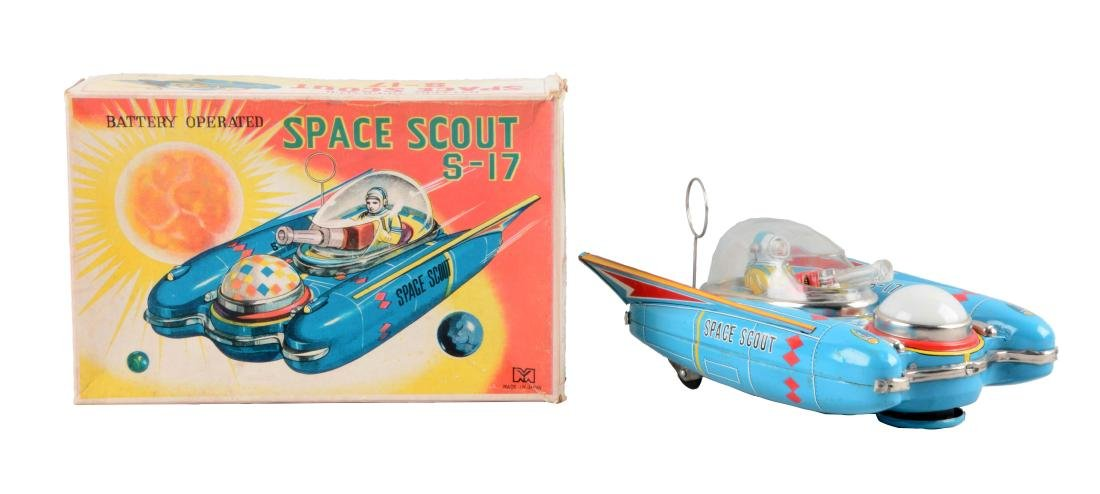 Japanese Tin Litho Battery-Operated Space Scout S-17.