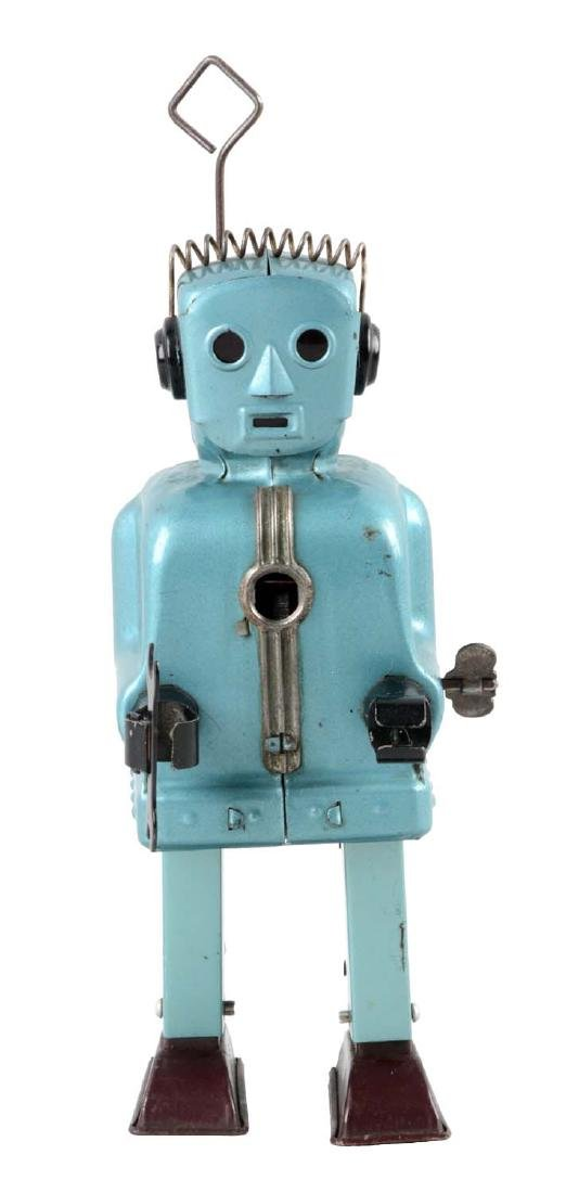 Japanese Tin Litho Wind Up Rachet Robot.