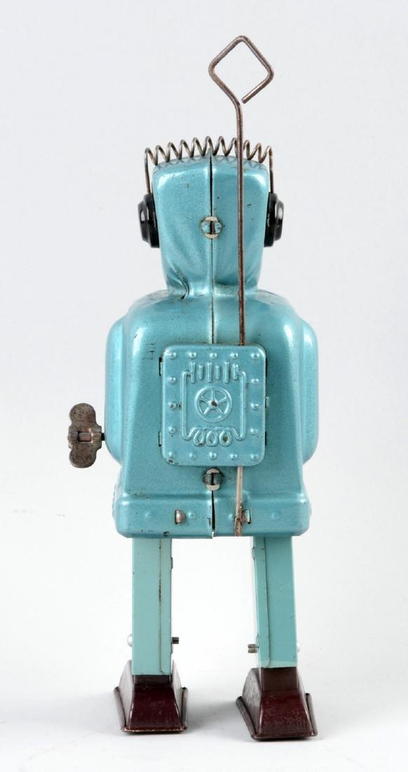 Japanese Tin Litho Wind Up Rachet Robot. - 2