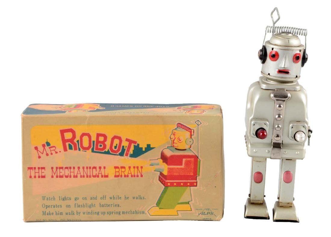 Japanese Tin Litho Wind Up Mr. Robot the Mechanical