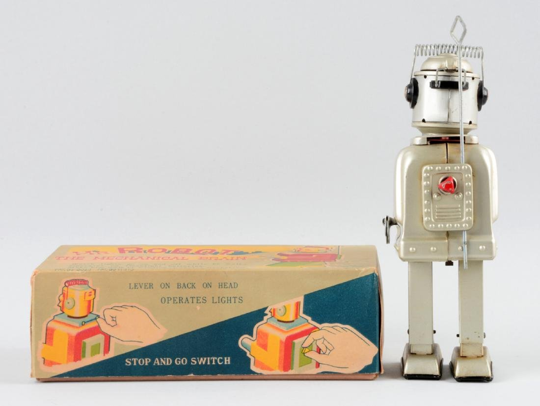 Japanese Tin Litho Wind Up Mr. Robot the Mechanical - 2