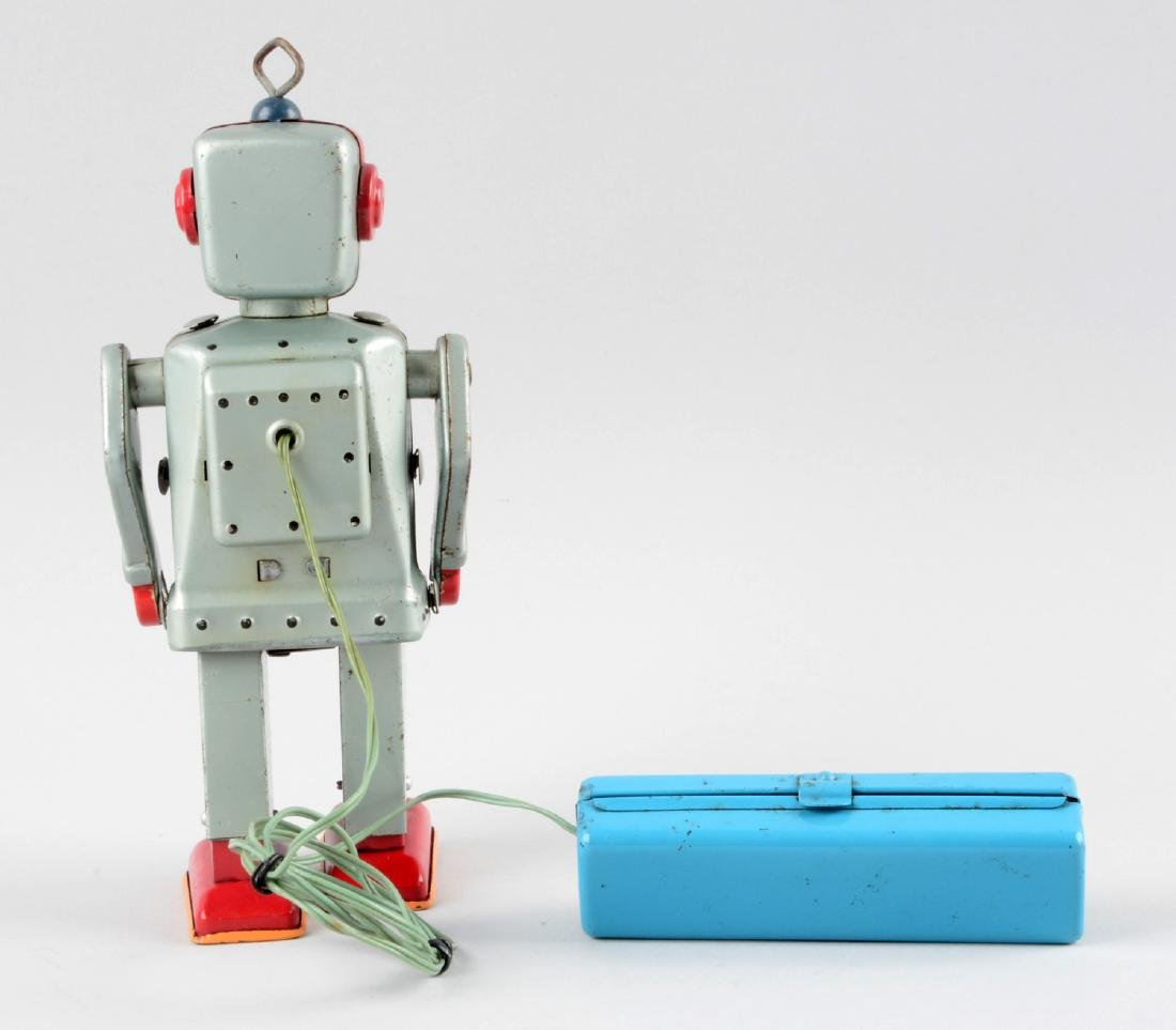 Japanese Tin Litho Battery-Operated R7 Robot. - 2