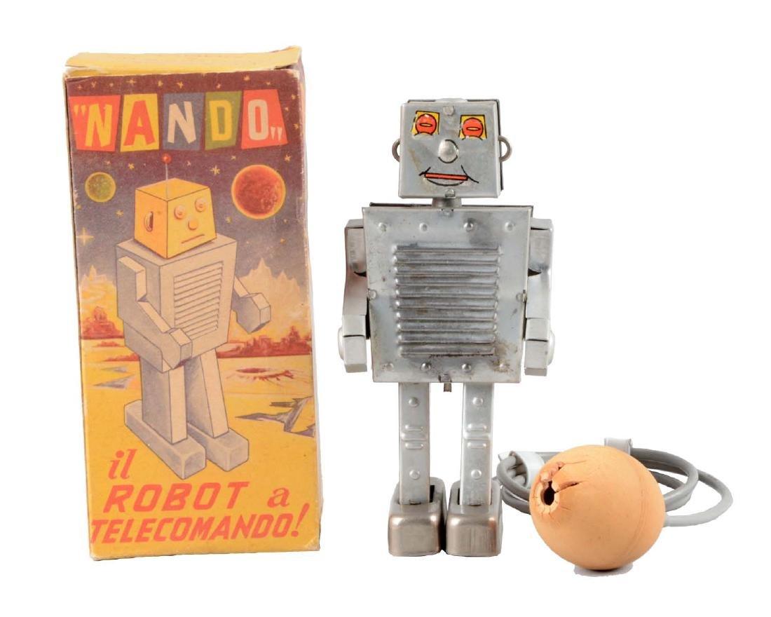 Italian Tin Litho Nando Robot.