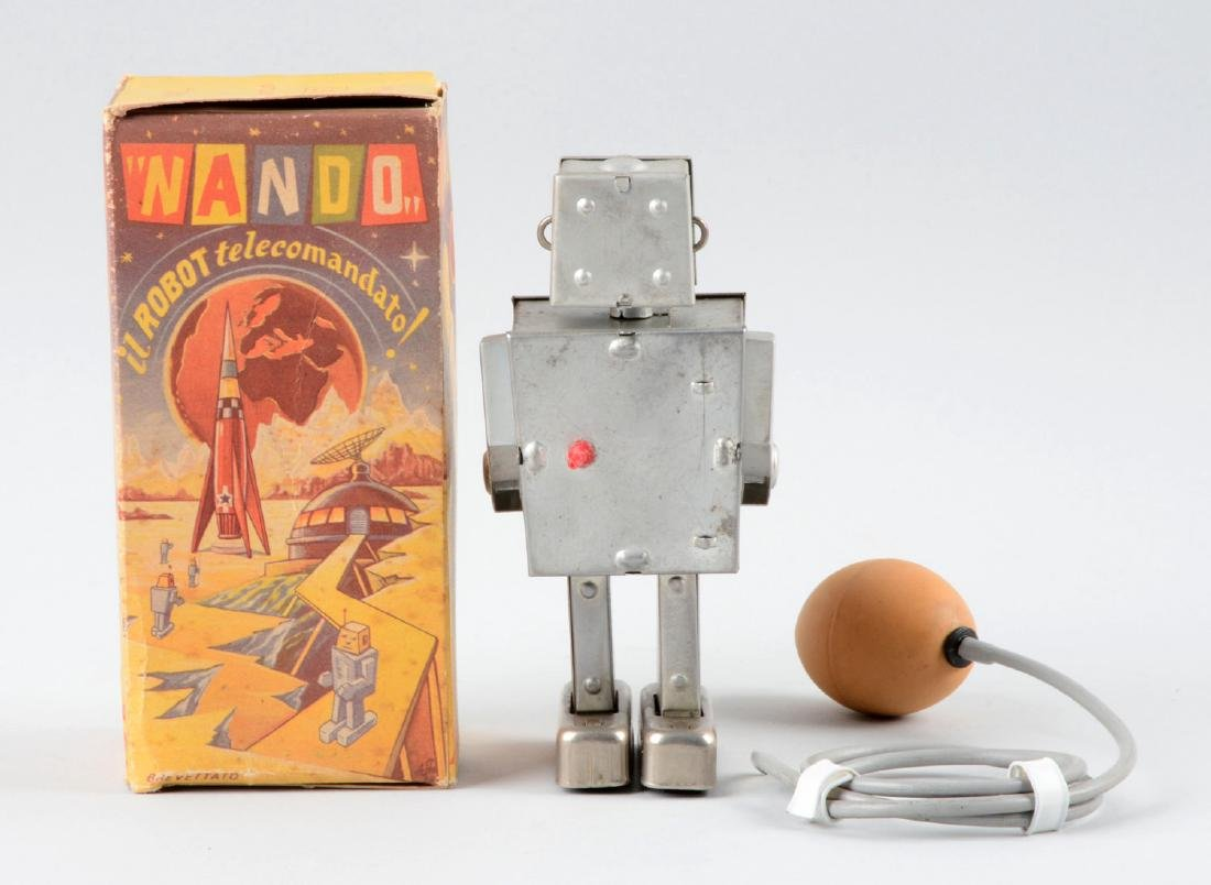 Italian Tin Litho Nando Robot. - 2