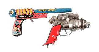 Lot Of 2: American Made Metal Space Guns.