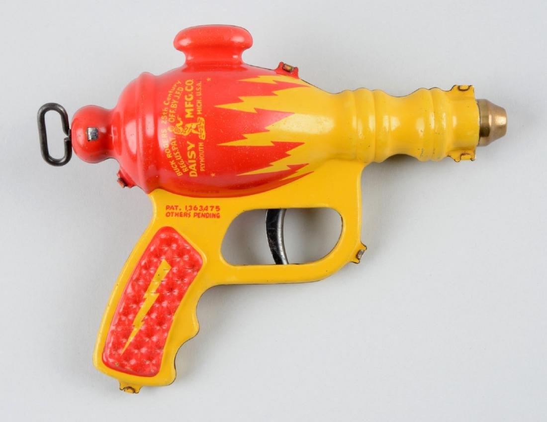 Daisy Buck Rogers Tin Litho Liquid Helium Water Pistol. - 2