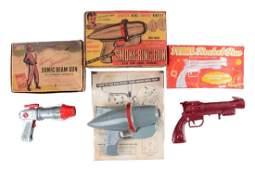 Lot Of 3: Vintage Plastic Space Guns With Original