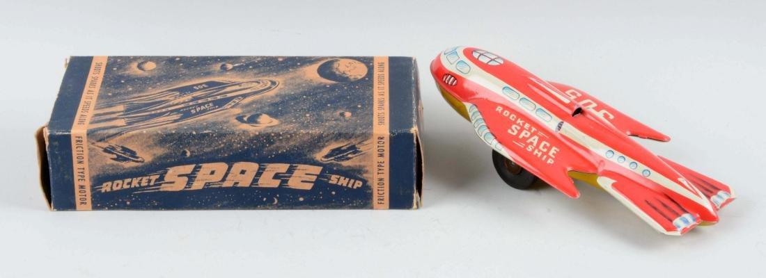 Automatic Toyworks Tin Litho Friction Rocket Space - 2
