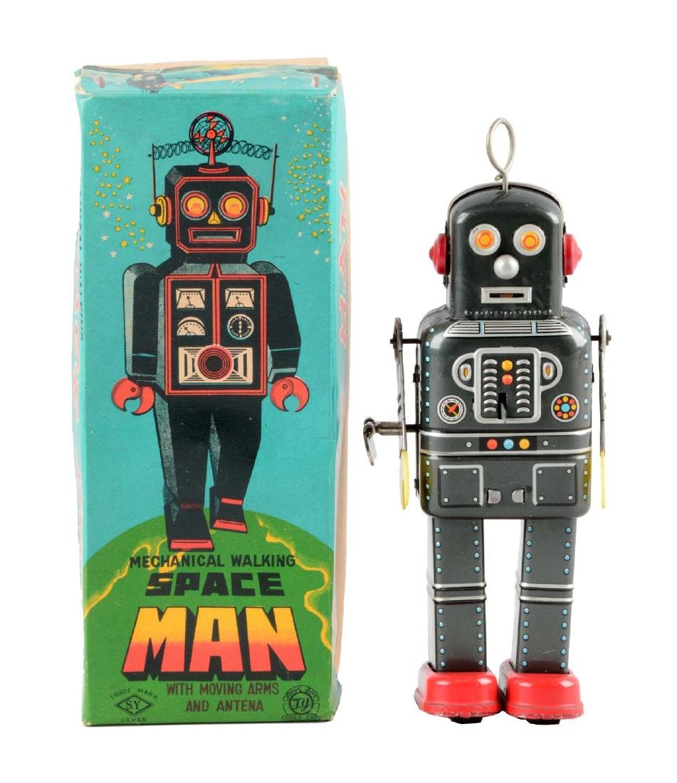 Japanese Tin Litho Wind-Up Space Man Robot.