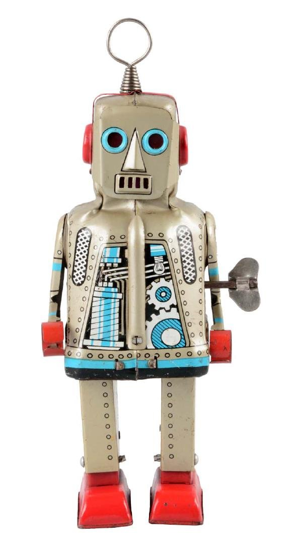 Japanese Tin Litho Wind Up Sparky Robot.