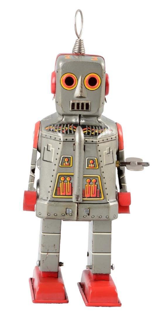 Japanese Tin Litho Wind-Up Sparky Robot.