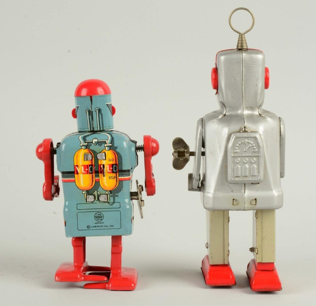 Lot Of 2: Japanese Tin Litho Wind-Up Robots. - 2