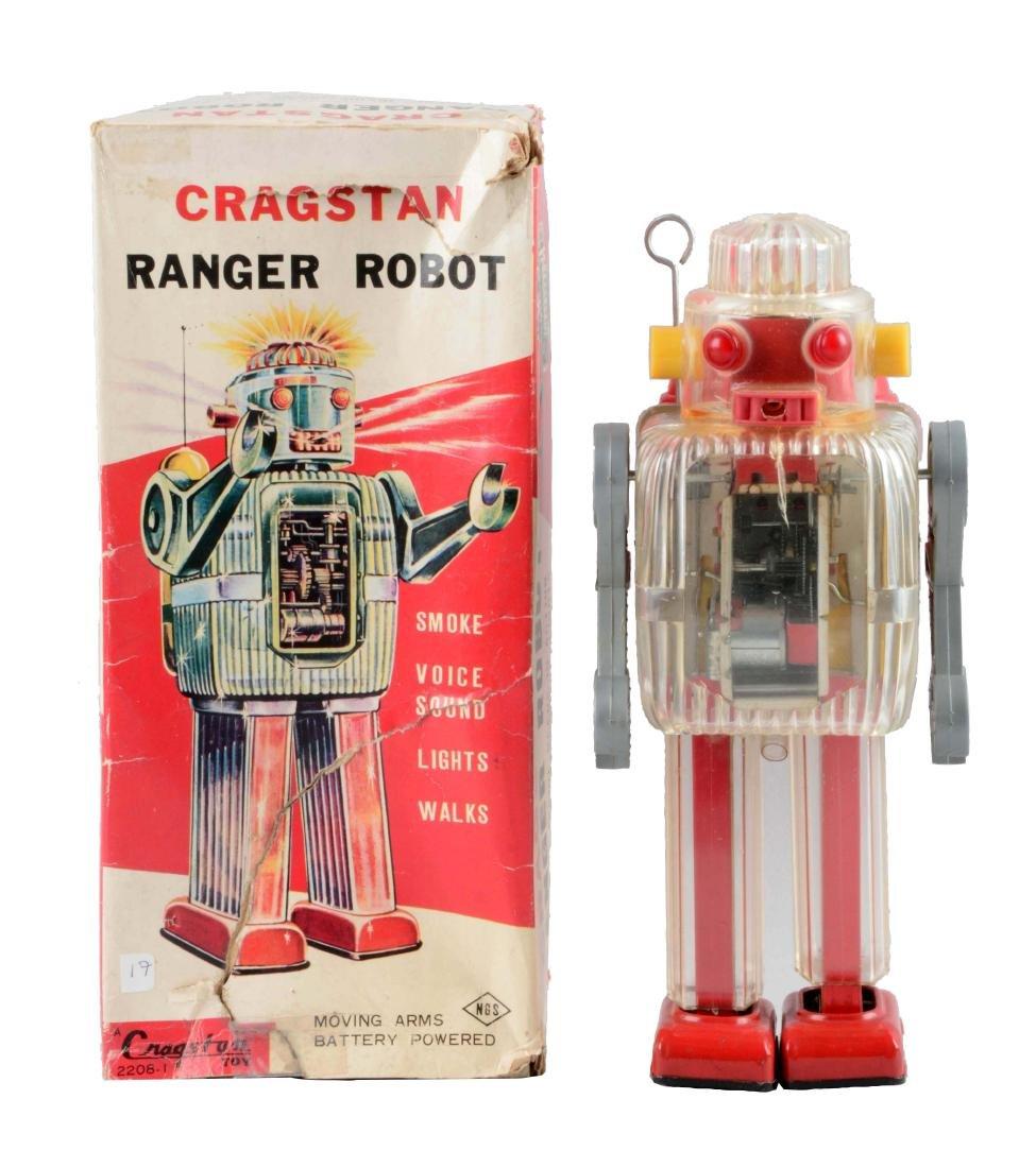 Japanese Battery Operated Plastic Ranger Robot.