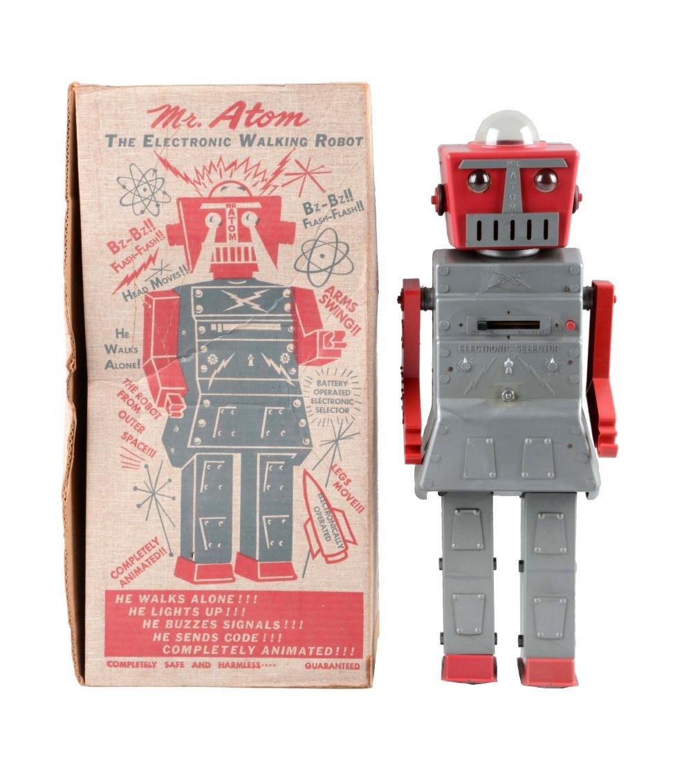 Plastic & Metal Mr. Atom Walking Robot Toy.