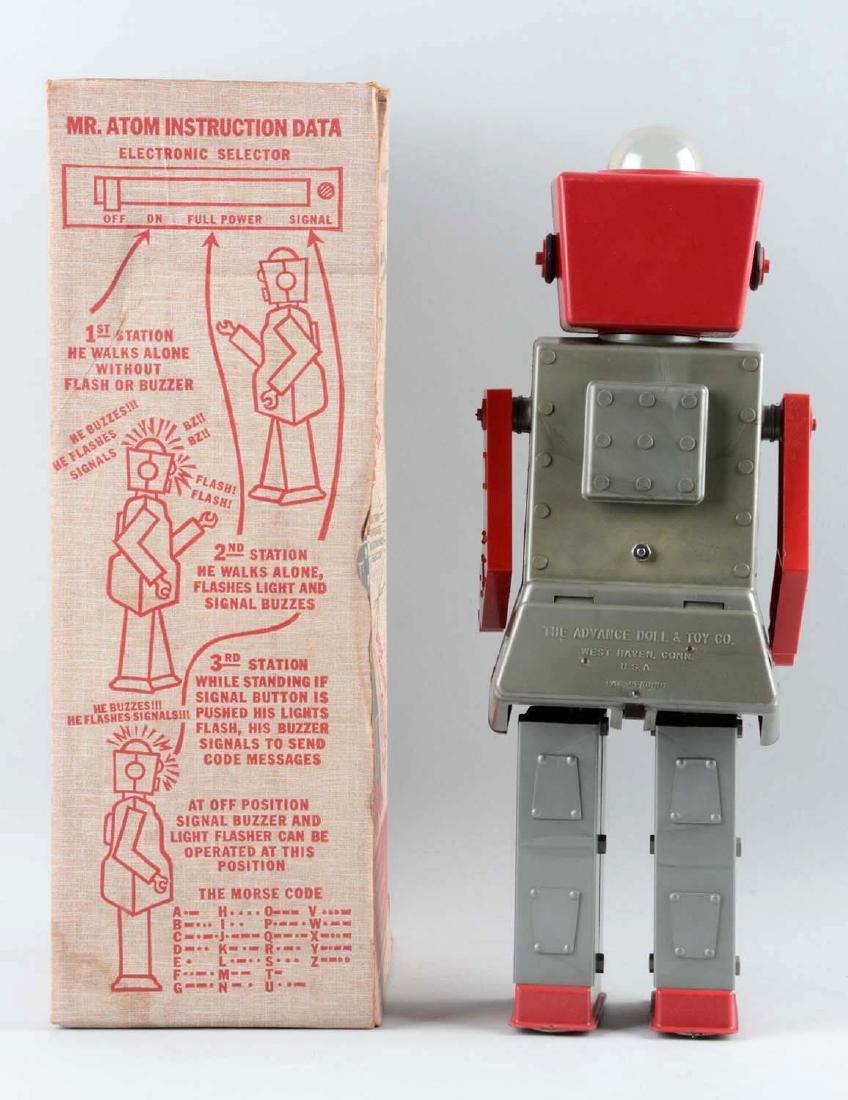 Plastic & Metal Mr. Atom Walking Robot Toy. - 2