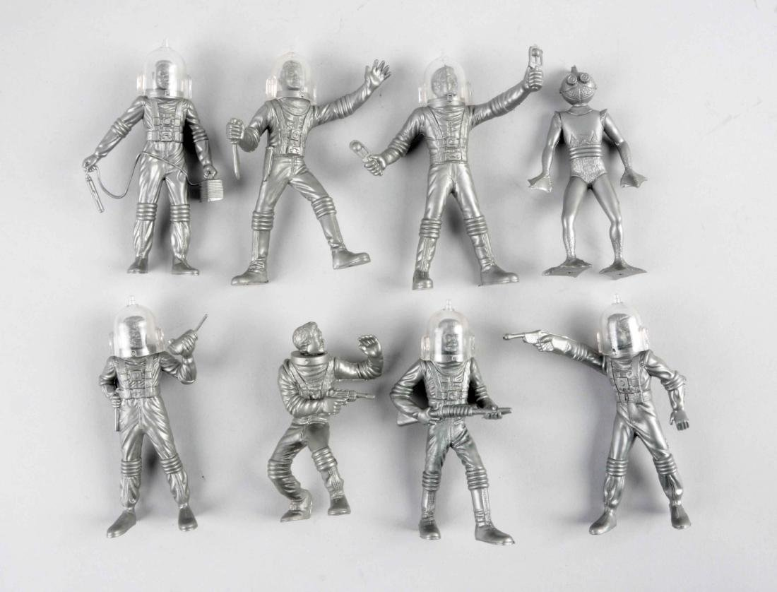 Lot Of 8: Marx Plastic Spacemen.