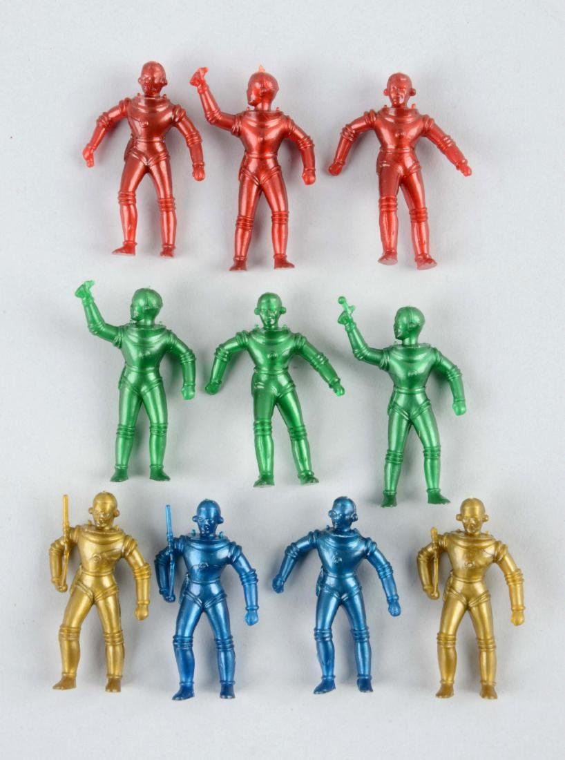 Lot Of 10: French Plastic Space Figures.