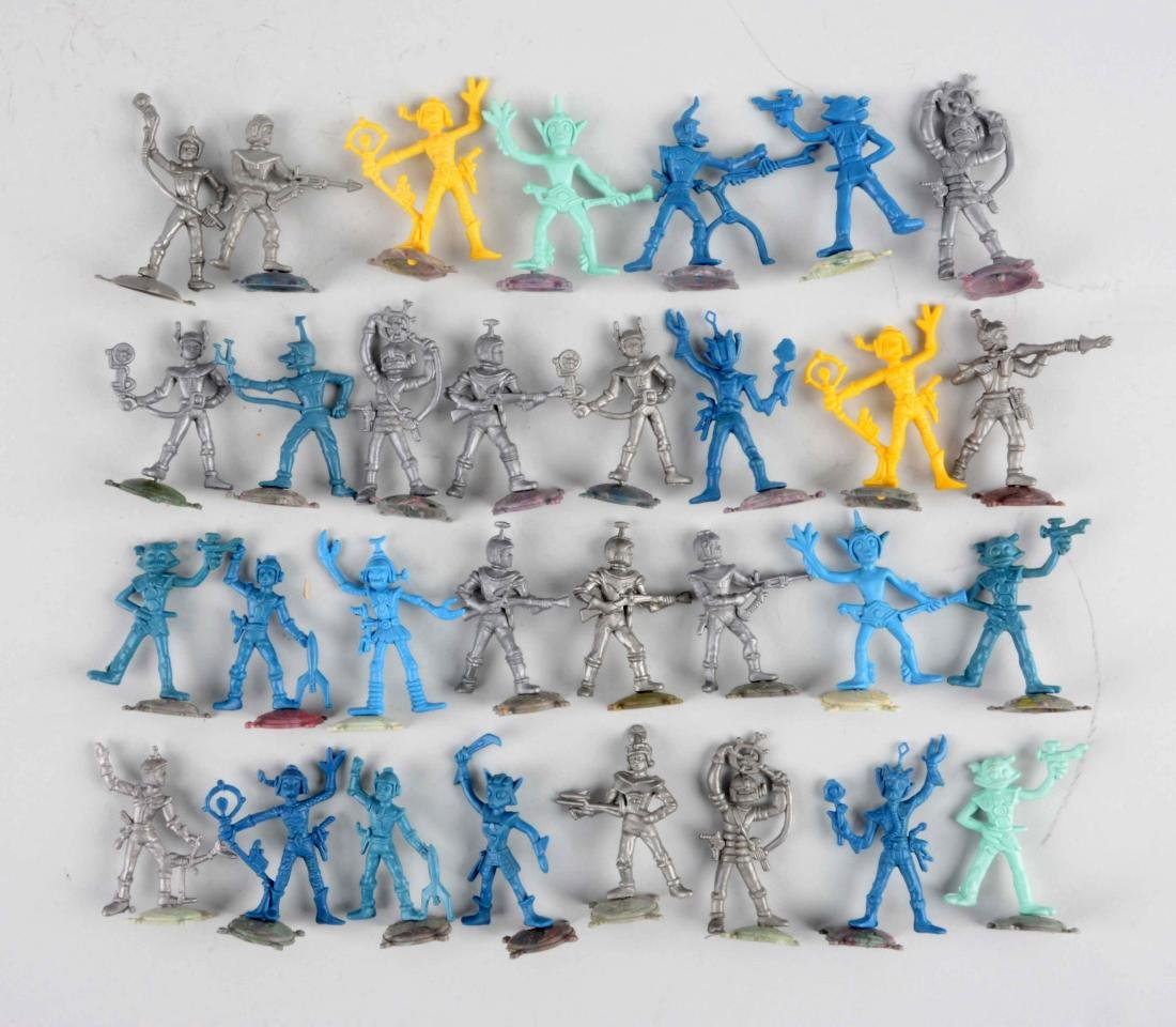 Lot Of Approximately 30: Italian Plastic Space Figures.