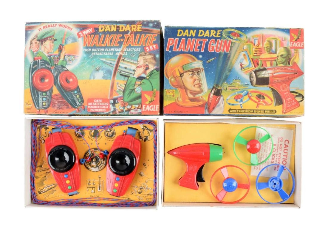 Lot Of 2: English Dan Dare Space Items.