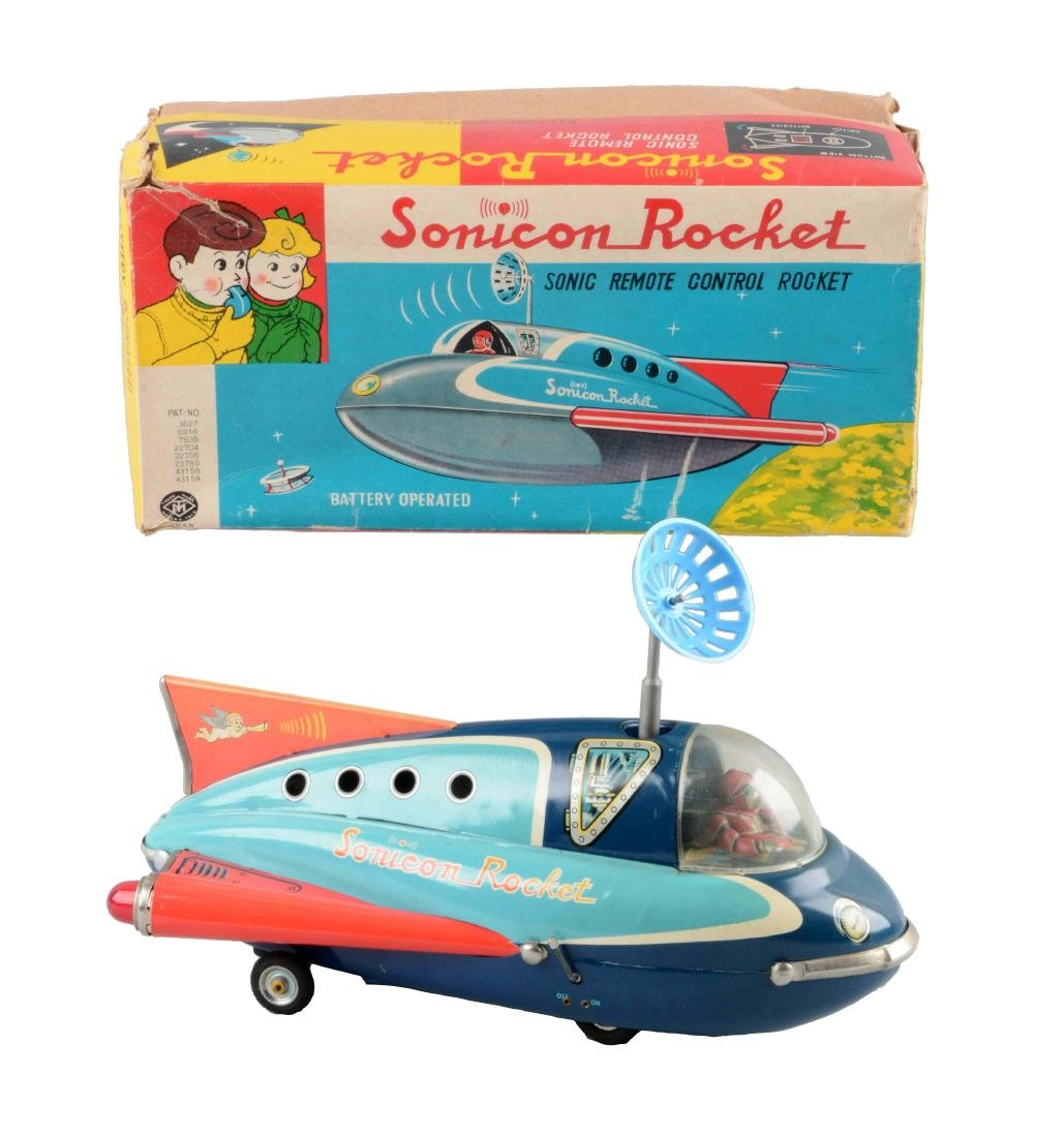 Japanese Tin Litho Battery-Operated Sonicon Rocket.