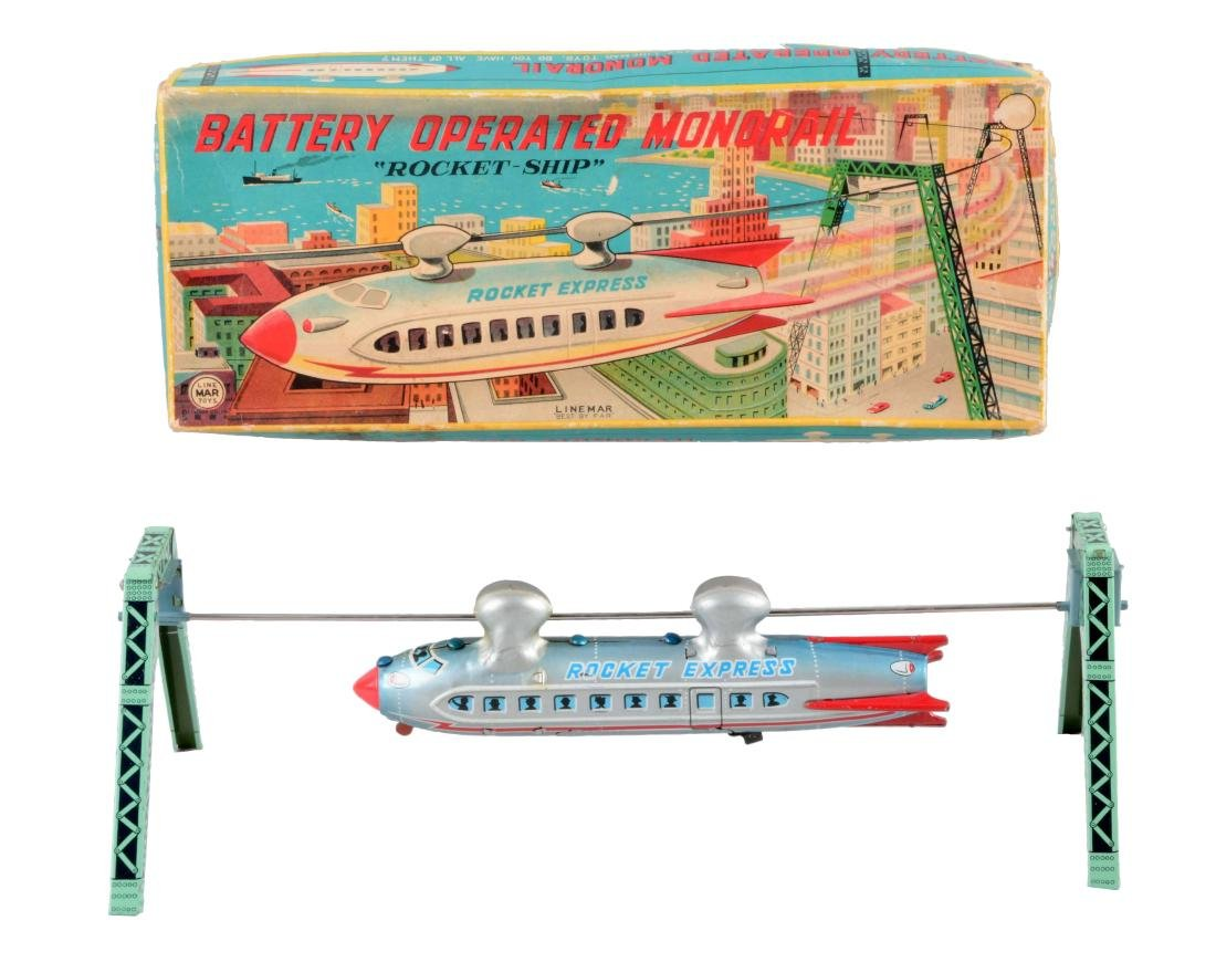 Japanese Tin Litho Battery-Operated Linemar Monorail