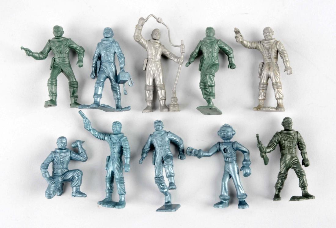 Lot Of 10: Marx Plastic Space Figures.