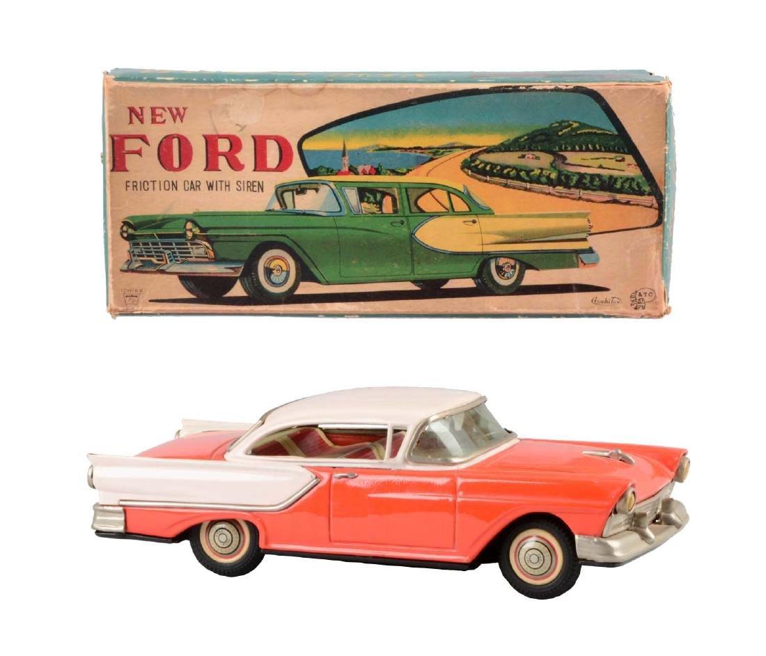 Japanese Tin Litho Friction Ford Automobile.
