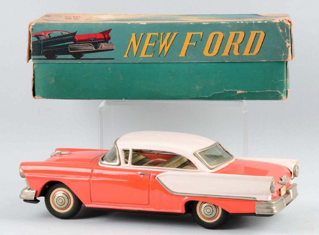 Japanese Tin Litho Friction Ford Automobile. - 2
