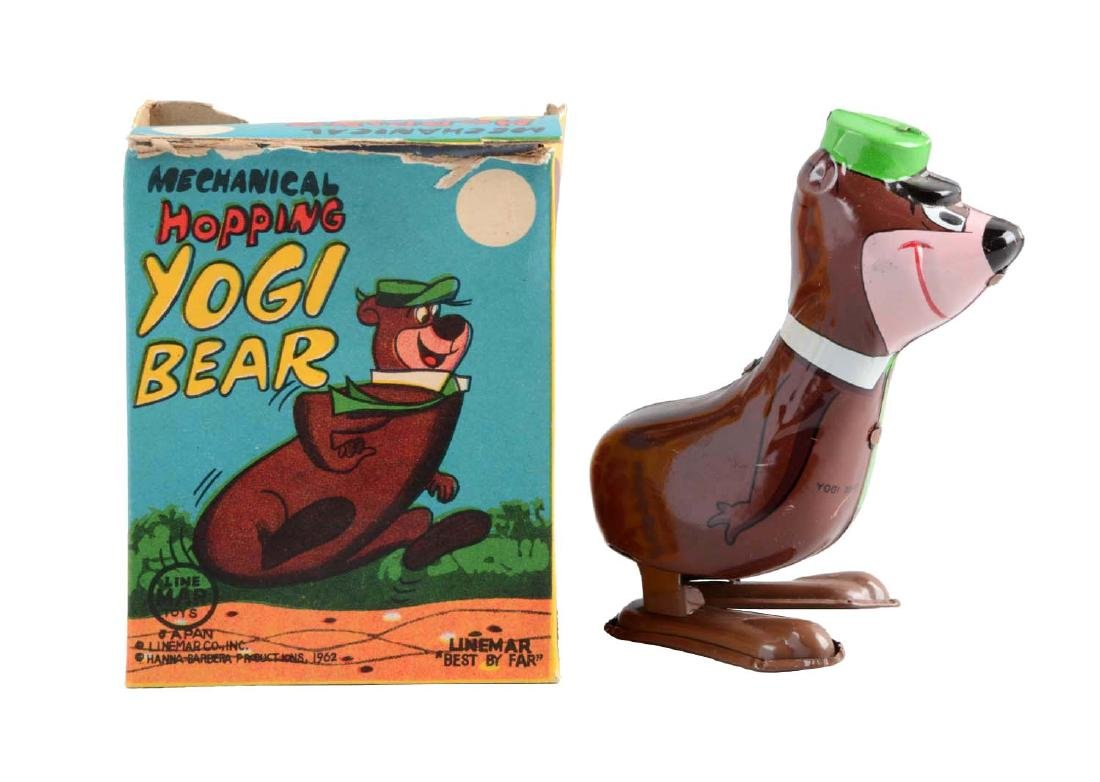 Marx Tin Litho Wind-Up Yogi Bear Hopping Toy.