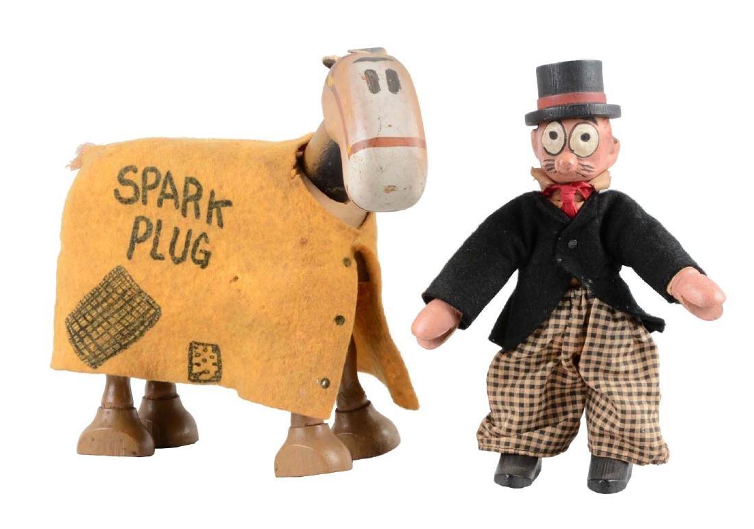 Schoenhut Barney Google & Spark Plug Figures.