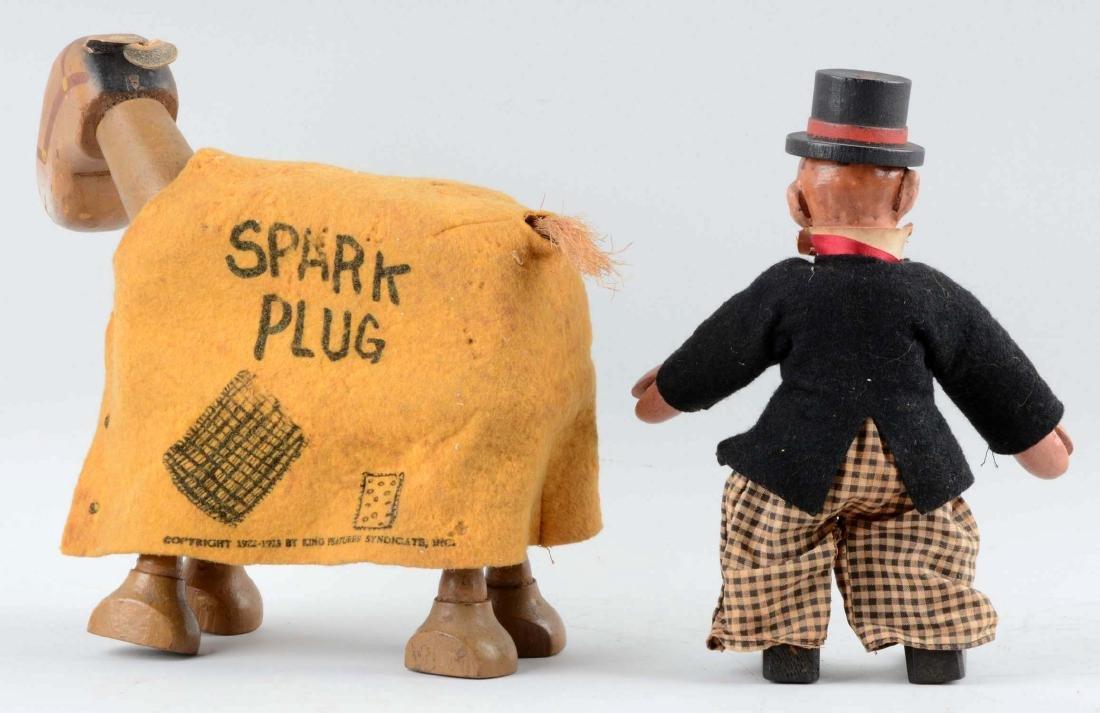 Schoenhut Barney Google & Spark Plug Figures. - 2
