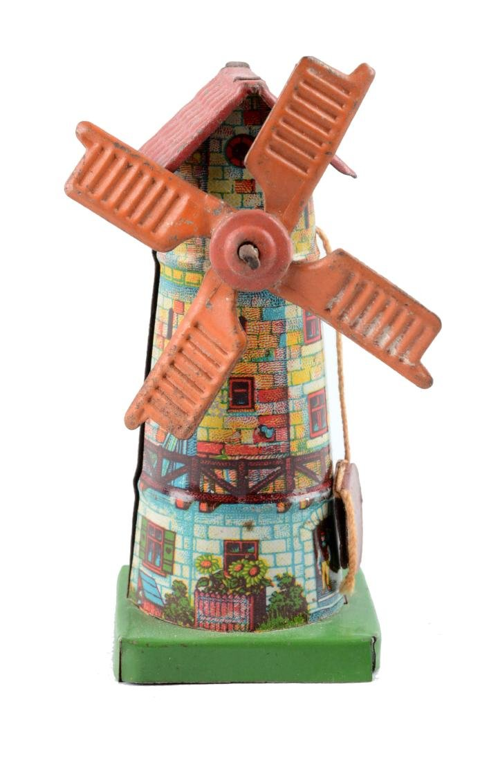 German Tin Litho Windmill Penny Toy.