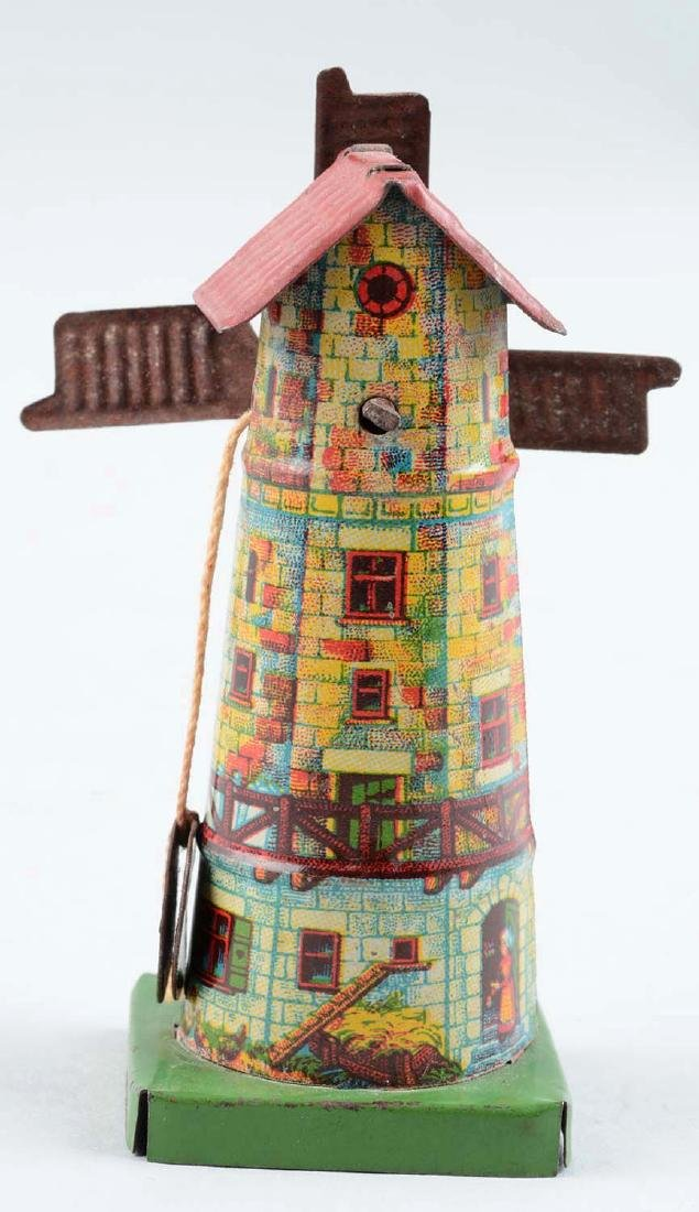 German Tin Litho Windmill Penny Toy. - 2