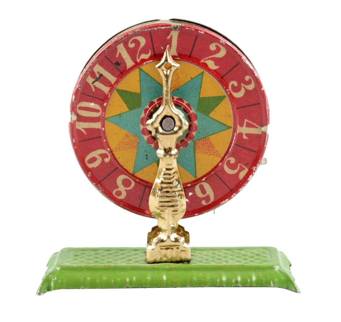 German Tin Litho Wheel of Fortune Penny Toy.