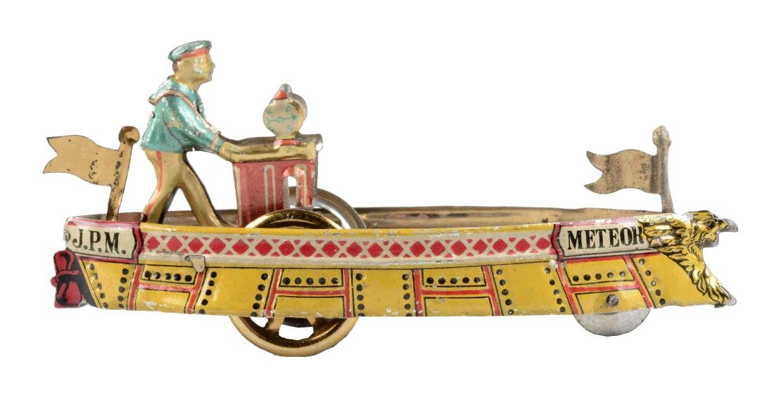 German Tin Litho Meteor Penny Toy Pleasure Boat.