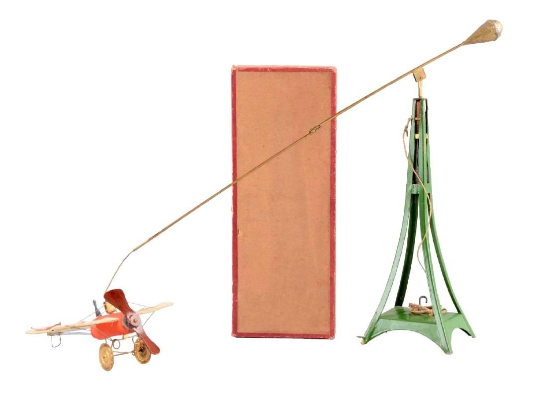 Unusual Pre-War French Airplane & Tower Toy.