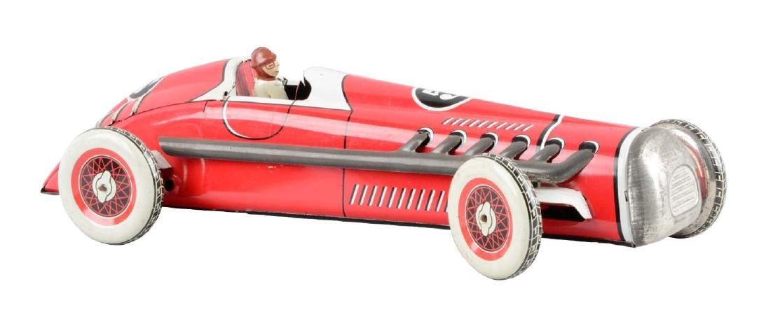 French Tin Litho Wind-Up No. 5 Race Car.