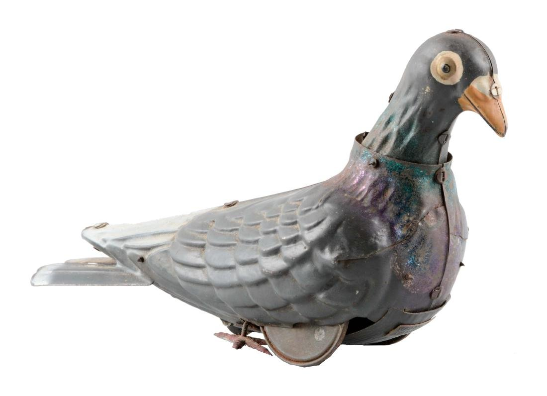 French Tin Litho Wind-Up Dove Toy.
