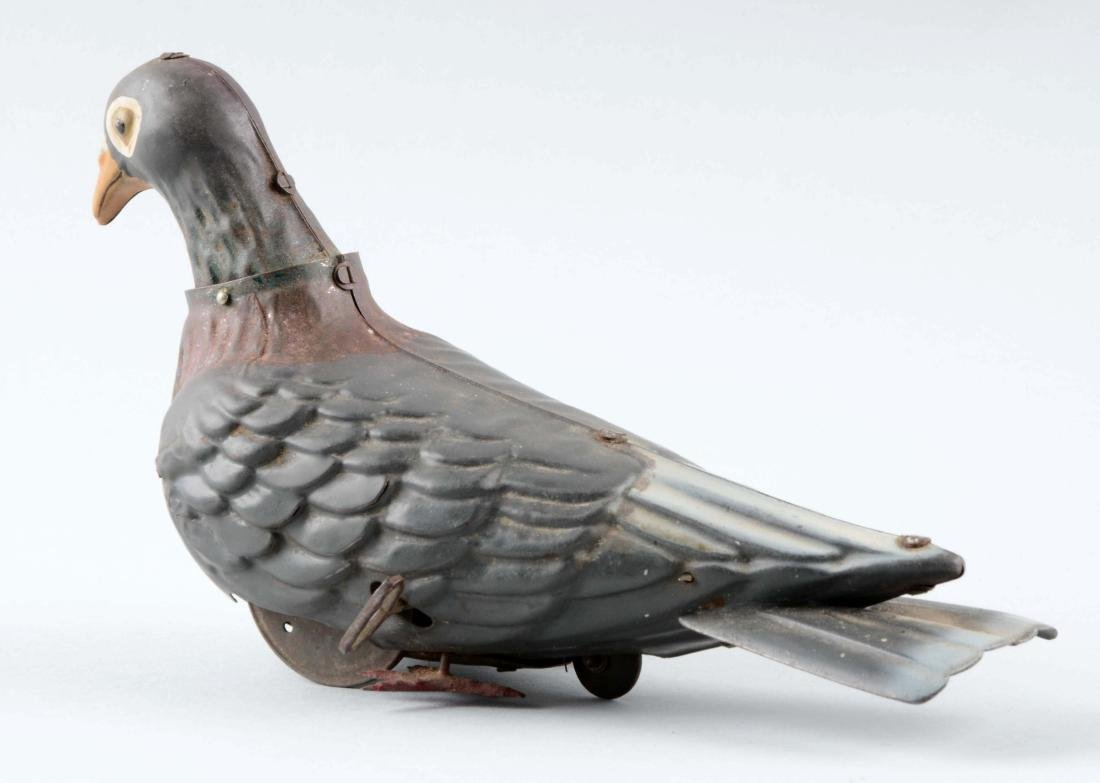 French Tin Litho Wind-Up Dove Toy. - 2