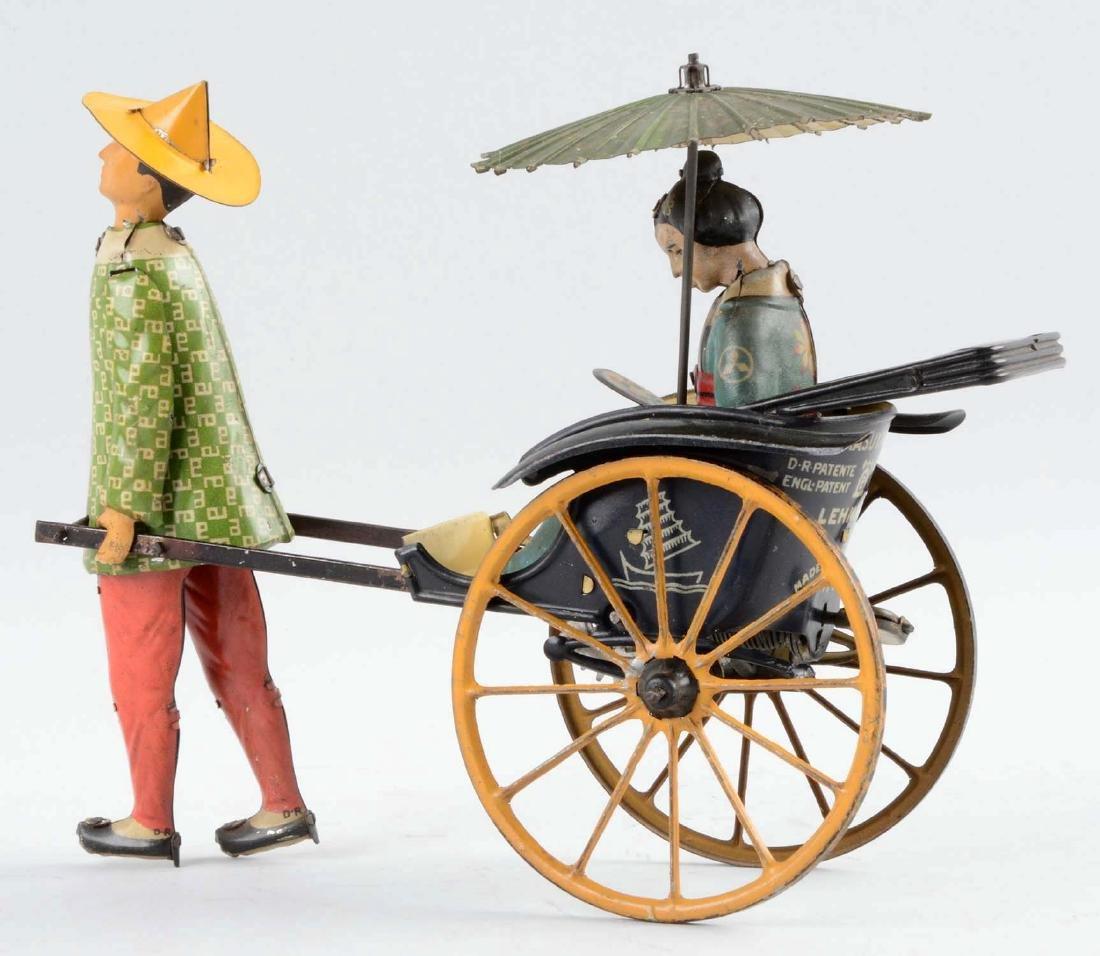 German Lehmann Tin Litho Wind-Up Matsuyama Toy. - 2