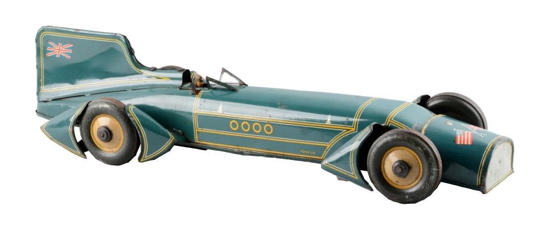 German Tin Litho Blue Bird Race Car.