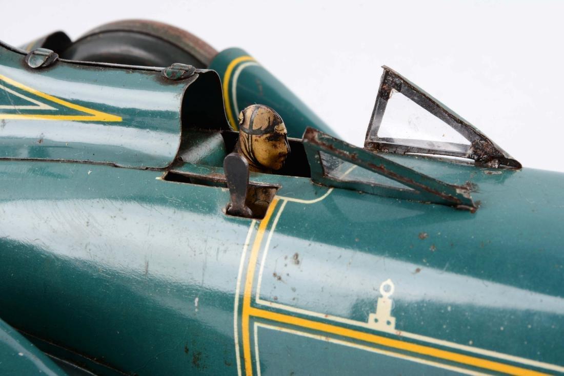 German Tin Litho Blue Bird Race Car. - 2